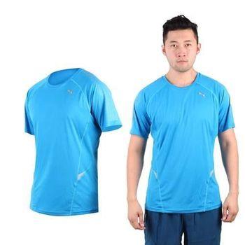 【PUMA】NIGHTCAT 360男短袖T恤 圓領 吸濕排汗 慢跑 路跑 寶藍銀