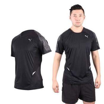 【PUMA】NIGHTCAT 360男短袖T恤 圓領 吸濕排汗 慢跑 路跑 黑銀