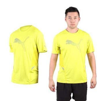 【PUMA】NIGHTCAT 男短袖T恤 圓領 吸濕排汗 慢跑 路跑 芥末黃銀