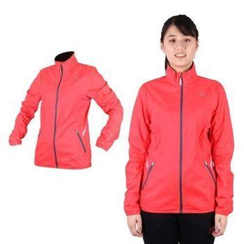 【PUMA】NIGHTCAT女反光立領風衣外套- 防風 慢跑 路跑 莓紅銀
