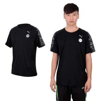 【PUMA】男短袖T恤-短T 圓領T 慢跑 路跑 運動 健走 登山 黑銀