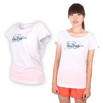 【PUMA】女海灘系列短袖T恤-棉T 運動 白藍綠
