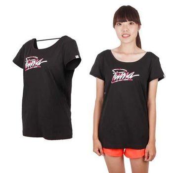【PUMA】女海灘系列短袖T恤-棉T 運動 黑紅白