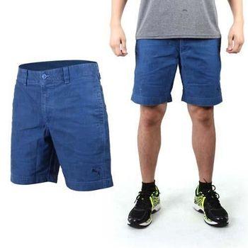 【PUMA】男海灘休閒短褲-游泳 海灘 棉褲 藍黑
