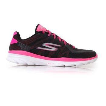 【SKECHERS】GO FIT 3 女慢跑鞋 - 路跑  螢光粉黑