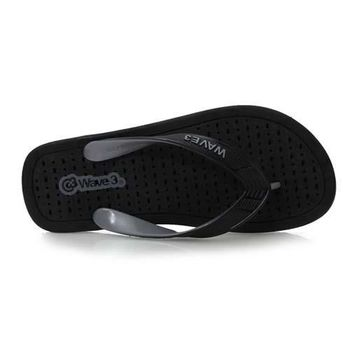 【WAVE3】男排水夾層人字拖-拖鞋 夾腳拖 台灣製  黑灰
