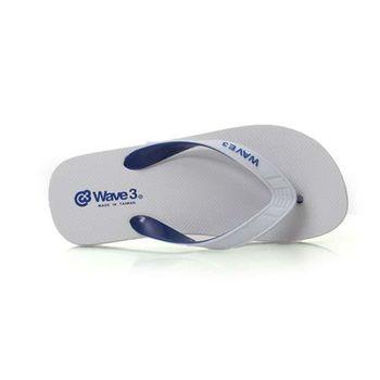 【WAVE3】男雙色夾層人字拖-夾腳拖 拖鞋 台灣製 白藍