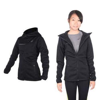 【ASICS】女運動外套- 刷毛 立領外套 保暖 亞瑟士 黑