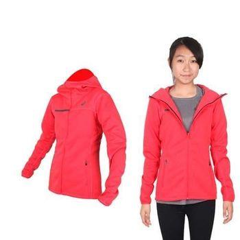 【ASICS】女運動外套- 刷毛 立領外套 保暖 亞瑟士 橘紅黑