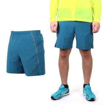 【ASICS】LITE-SHOW 男慢跑短褲 - 路跑 休閒短褲 亞瑟士 藍綠