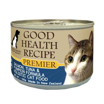 【PREMIER】健康主義 GHR貓用魚肉南瓜配方主食 貓罐 185G x 24入