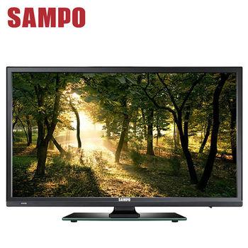 【SAMPO聲寶】24吋Full HD LED超薄液晶顯示器+視訊盒(EM-24CK20D)