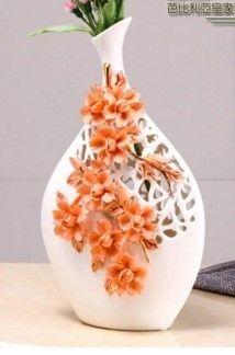 少女系列粉紅描金陶瓷客廳裝飾創意歐式花插(大)