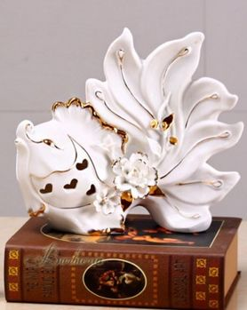 歐式創意接吻魚擺件高檔時尚家居裝飾品陶瓷工藝品(小)