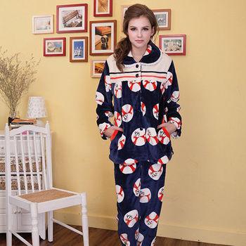 【MFN蜜芬儂】親親小鹿保暖法蘭絨睡衣(2色)