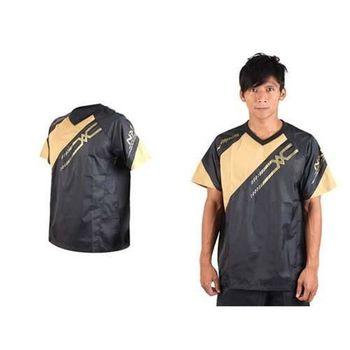 【MIZUNO】NXT系列 男短袖排球服-運動T恤 暖身服 平織 美津濃 黑金