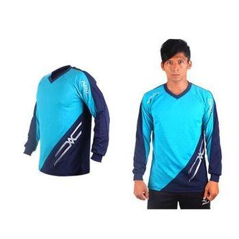 【MIZUNO】男排球長袖T恤-運動T恤 美津濃 NXT系列 湖水藍