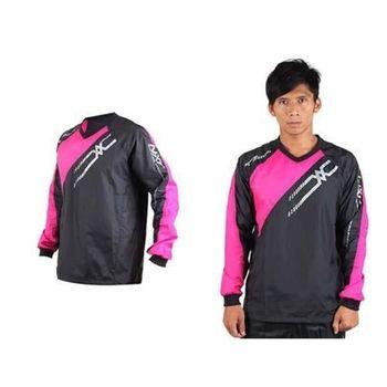 【MIZUNO】NXT系列 男長袖排球服-運動T恤 暖身服 平織 美津濃 黑桃銀
