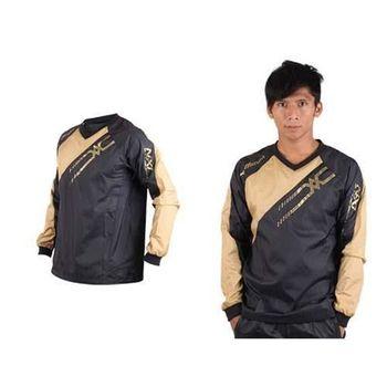 【MIZUNO】NXT系列 男長袖排球服-運動T恤 暖身服 平織 美津濃 黑金