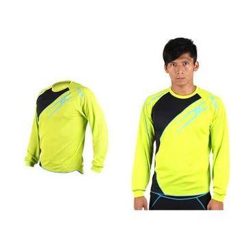 【MIZUNO】男長袖T恤-路跑 慢跑 運動T恤 美津濃 NXT系列 螢光綠黑