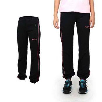 【FIRESTAR】女吸濕排汗束口長褲 -路跑 慢跑 健身 運動 休閒 黑桃紅