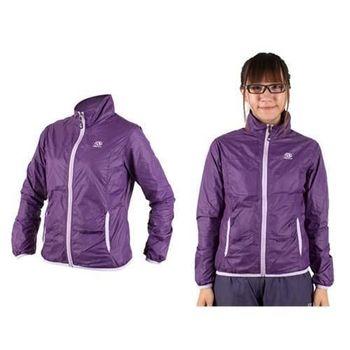 【FIRESTAR】女防風外套-慢跑 運動外套 立領外套  深紫