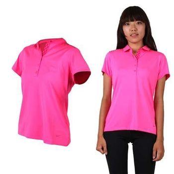 【NIKE】GOLF 女短袖POLO衫- 吸濕排汗 高爾夫球 短T 螢光粉
