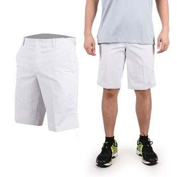 【NIKE】GOLF 男快速排汗條紋短褲- 休閒 戶外 高爾夫球 淺灰白