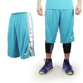 【NIKE】男運動短褲-針織 籃球短褲 慢跑 路跑 水藍白
