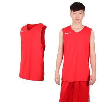 【NIKE】男運動背心-針織 籃球背心 慢跑 路跑 紅白