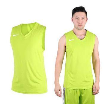 【NIKE】男運動背心-針織 籃球背心 慢跑 路跑 綠白