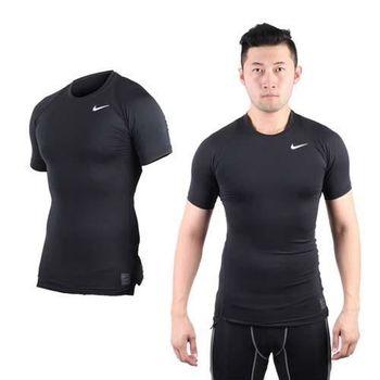 【NIKE】PRO 男短袖緊身衣-路跑 慢跑 健身 重訓 黑白