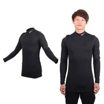 【NIKE】GOLF 男快速排汗長袖高領衫 - T恤 路跑 健身 高爾夫 黑灰