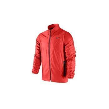 【NIKE】GOLF 男防風運動外套- 高爾夫球 立領 橘紅黑