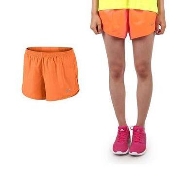 【NIKE】女梭織短褲-慢跑 路跑 運動  亮橘銀