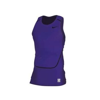 【NIKE】PRO COMBAT 男緊身背心-慢跑 路跑 重訓 健身 藍紫