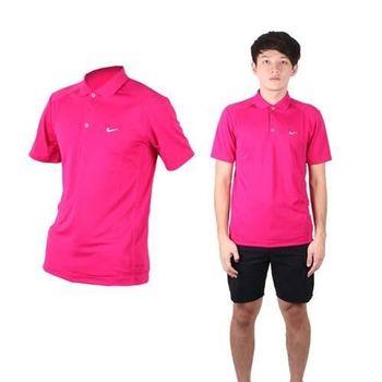 【NIKE】GOLF 男短袖POLO衫- 針織 立領 高爾夫 葡萄紫白