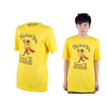 【NIKE】男休閒短袖T恤-圓領  黃