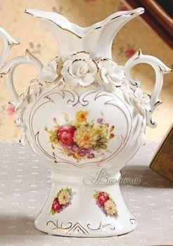 陶瓷白花瓶擺件高檔歐式奢華客廳創意裝飾花瓶