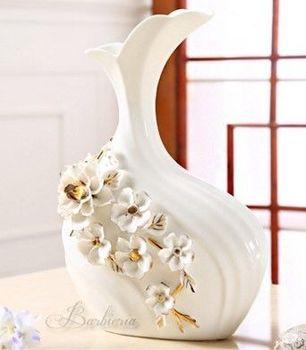 歐式複古陶瓷花瓶花器擺件創意時尚檯面大花瓶插花