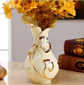 歐式複古陶瓷花瓶花器擺件創意時尚檯面大花瓶