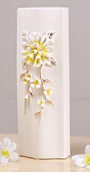 地中海風格簡約歐式田園浮雕開片陶瓷花瓶花器(大)