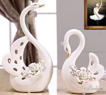 歐式天鵝家居裝飾擺件禮品客廳陶瓷工藝品