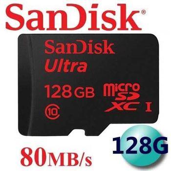 公司貨 SanDisk 128GB 80MB/s Ultra microSDXC TF UHS-I C10 記憶卡