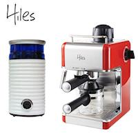 Hiless皇家義式精裝 :Hiles皇家系列義式高壓蒸氣咖啡機和電動磨豆機HE~307R