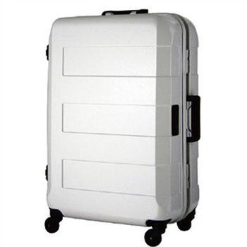 日本 LEGEND WALKER 6021-64-26吋 電子秤鋁框輕量行李箱 白色