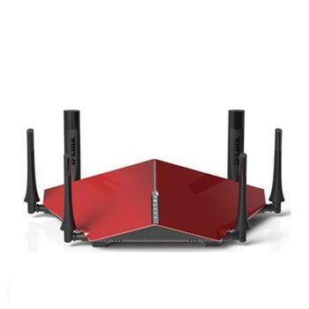 [送免費到府安裝]【D-LINK 友訊】DIR-890L/R  AC3200 雙核三頻Gigabit 無線路由器(黑/紅)