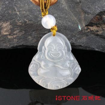 石頭記 迎富白玉髓彌勒佛項鍊