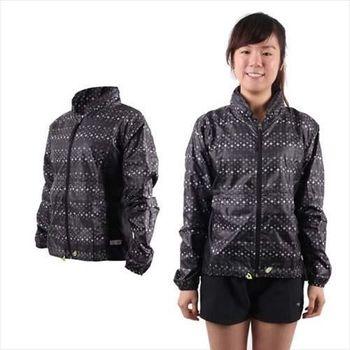 【MIZUNO】女運動外套-慢跑 路跑 風衣 立領 美津濃  黑