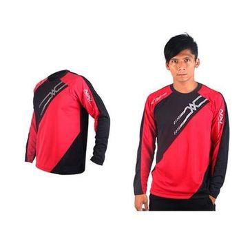 【MIZUNO】男網球長袖T恤-運動T恤 美津濃 NXT系列 黑紅銀